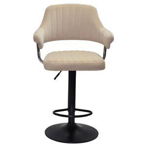 Барный стул Onder Mebli Jeff BAR BK-BASE Бежевый B-1005 Бархат