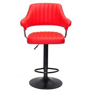 Барный стул Onder Mebli Jeff BAR BK-BASE Красный 1007 Экокожа