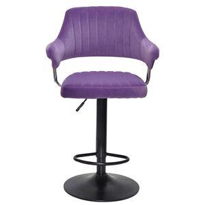 Барный стул Onder Mebli Jeff BAR BK-BASE Пурпурный B-1013 Бархат