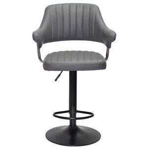 Барный стул Onder Mebli Jeff BAR BK-BASE Серый 1001 Экокожа