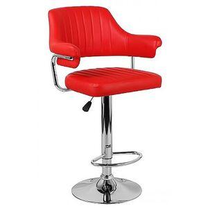 Барный стул Onder Mebli Jeff BAR CH-BASE Красный 1007 Экокожа