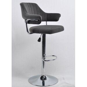 Барный стул Onder Mebli Jeff BAR CH-BASE Серый B-1004 Бархат