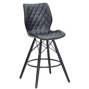 Полубарный стул Onder Mebli Nolan BAR 65 - BK Черный Экокожа
