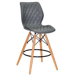 Полубарный стул Onder Mebli Nolan BAR 65 Серый 1001 Экокожа