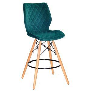 Полубарный стул Onder Mebli Nolan BAR 65 Зеленый B-1003 Бархат