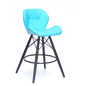 Полубарный стул Onder Mebli Invar BAR 65-BK Голубой 52