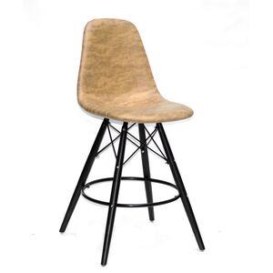 Полубарный стул Onder Mebli Lari BAR 65-BK Желтый MR-201 Нубук