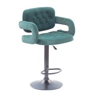 Барный стул Onder Mebli Gor BAR BK-BASE Зеленый B-1003 Бархат