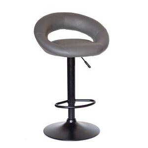 Барный стул Onder Mebli Holy BAR BK-BASE Серый 1001 Экокожа