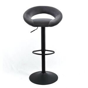 Барный стул Onder Mebli Holy BAR BK-BASE Серый B-1004 Бархат