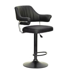 Барный стул Onder Mebli Jeff BAR BK-BASE Черный Экокожа