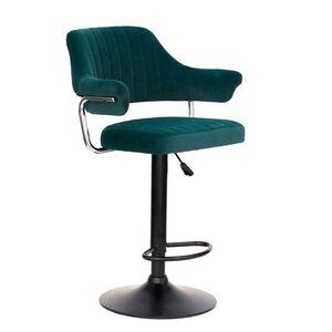 Барный стул Onder Mebli Jeff BAR BK-BASE Зеленый B-1003 Бархат