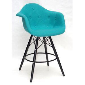Полубарное кресло Onder Mebli Leon BAR 65-BK Шерсть Бирюза W-18