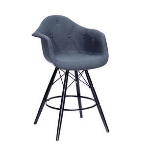 Полубарное кресло Onder Mebli Leon BAR 65-BK Вискоза Антрацит K-8