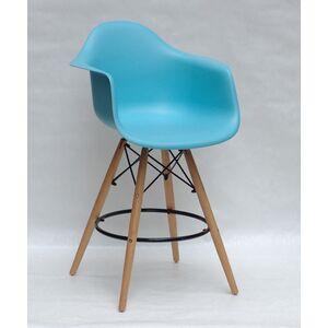 Полубарное кресло Onder Mebli Leon BAR 65 Голубой 52 Пластик