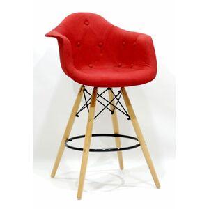 Полубарное кресло Onder Mebli Leon Soft BAR 65 Вискоза Красный K-9