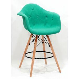 Полубарное кресло Onder Mebli Leon Soft BAR 65 Шерсть Бирюзовый W-18
