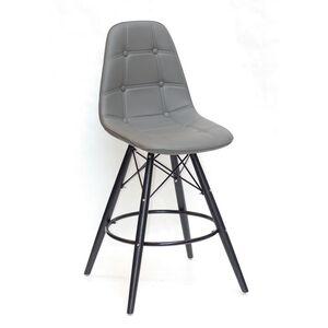 Полубарный стул Onder Mebli Alex BAR 65-BK Серый 21 Экокожа
