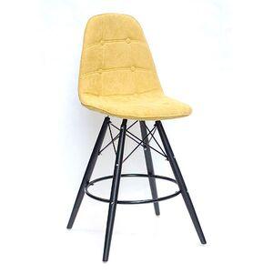 Полубарный стул Onder Mebli Alex BAR 65-BK Шенилл Желтый G-100