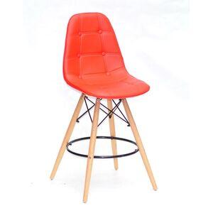 Полубарный стул Onder Mebli Alex BAR 65 Красный 05 Экокожа