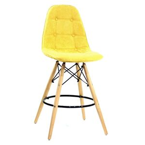 Полубарный стул Onder Mebli Alex BAR 65 Шенилл Желтый G-100