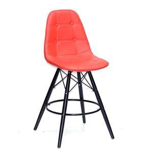 Полубарный стул Onder Mebli Alex BAR-BK 65 Красный 05 Экокожа