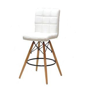 Полубарный стул Onder Mebli Marcus BAR 65 Белый