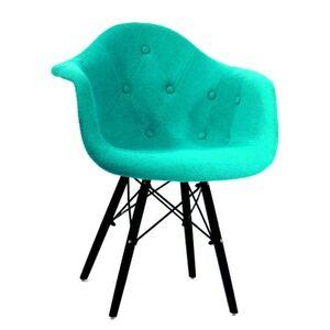 Кресло Onder Mebli Leon Soft-BK Шерсть Бирюзовый W-18
