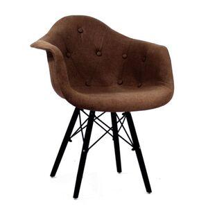Кресло Onder Mebli Leon Soft-BK Вискоза Коричневый K-10