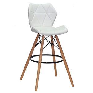 Барный стул Onder Mebli Greg BAR 75 Белый Экокожа