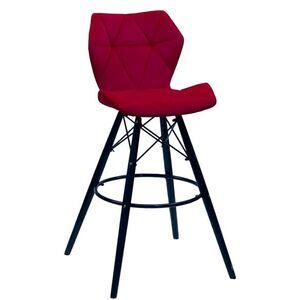 Барный стул Onder Mebli Greg BAR 75 - BK Красный B-1016 Бархат
