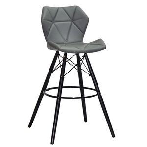 Барный стул Onder Mebli Greg BAR 75 - BK Серый 1001 Экокожа