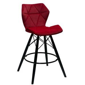 Полубарный стул Onder Mebli Greg BAR 65 - BK Красный B-1016 Бархат
