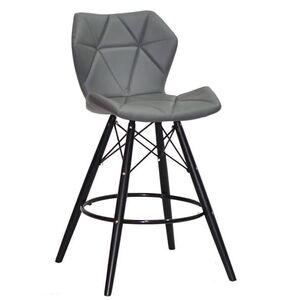 Полубарный стул Onder Mebli Greg BAR 65 - BK Серый 1001 Экокожа