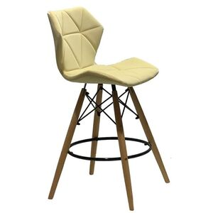 Полубарный стул Onder Mebli Greg BAR 65 Молочный В-1020 Бархат