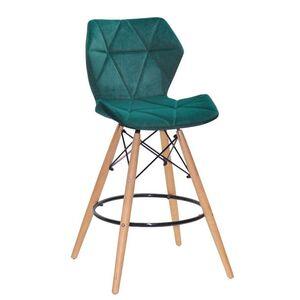 Полубарный стул Onder Mebli Greg BAR 65 Зеленый B-1003 Бархат