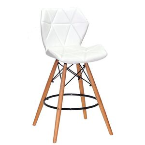 Полубарный стул Onder Mebli Greg BAR 65 Белый Экокожа