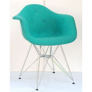 Кресло Onder Mebli Leon Soft-CH-ML Шерсть Бирюзовый W-18