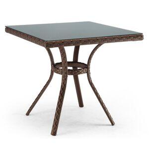 Стол из ротанга Pradex Блюз квадратный Темно-коричневый