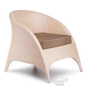 Кресло из ротанга Pradex Гольф Бежевое