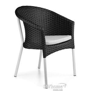 Кресло из ротанга Pradex Неаполь Лайт Черное