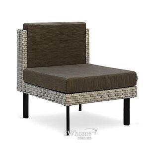 Кресло из ротанга Pradex Тетрис без подлокотников Серое