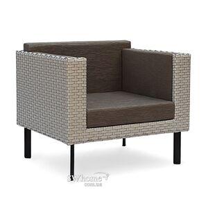 Кресло из ротанга Pradex Тетрис Серое