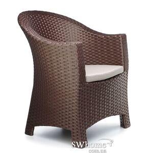 Кресло из ротанга Pradex Комфорт Темно-коричневое