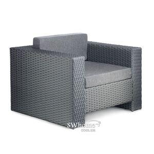 Кресло из ротанга Pradex Гранд Серое