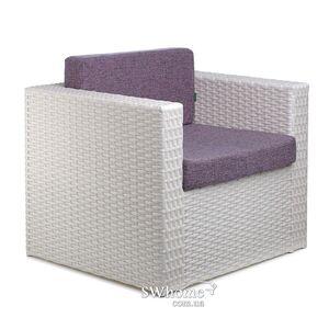 Кресло из ротанга Pradex Мартин Белое