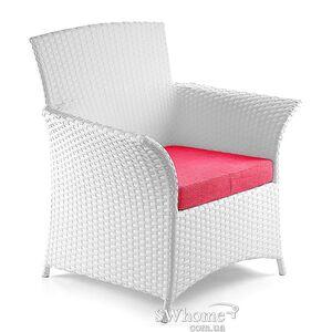 Кресло из ротанга Pradex Патио Белое