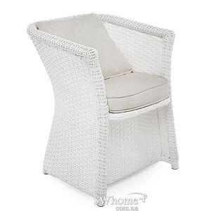 Кресло из ротанга Pradex Релакс с кантом Белое