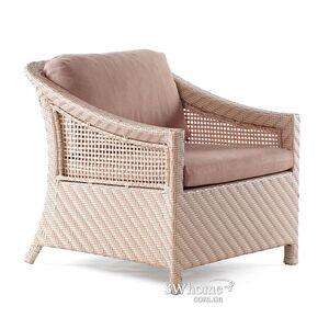 Кресло из ротанга Pradex Лорд Бежевое