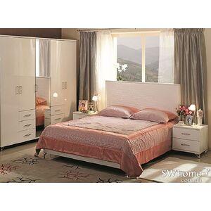 Двуспальная кровать Embawood Мода Белая